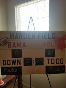 Custom Scoreboard for a Football Themed Gender Reveal